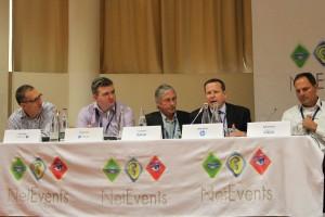 Phil Tilley, Alcatel-Lucent; Tony Lucas, Flexiant; Ian Keen, Gartner; Mike Banic, HP; Jeff Schmitz