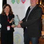 Award Presented by Pim Bilderbeek, The METISFiles – collected By Liz Harding, Marketing Director, NaviSite